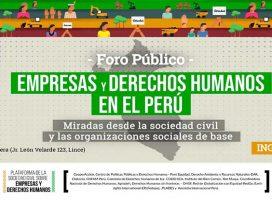 Foro público: Empresas  y Derechos Humanos en el Perú