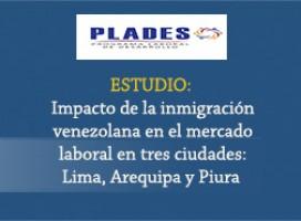 Impacto de la inmigración venezolana en el mercado laboral de tres ciudades: Lima, Arequipa y Piura