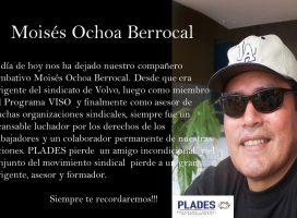 Moisés Ochoa partió a la eternidad