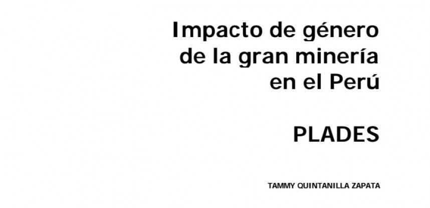 Impacto de Género de la Gran Minería en el Perú.