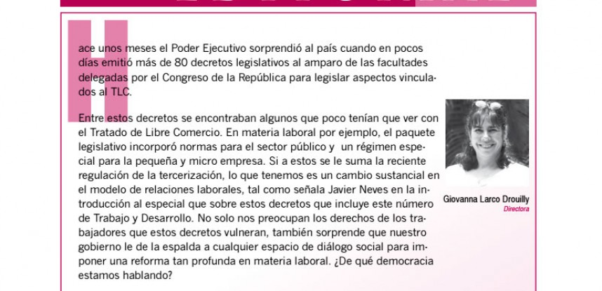 Revista Nº 4 Trabajo & Desarrollo