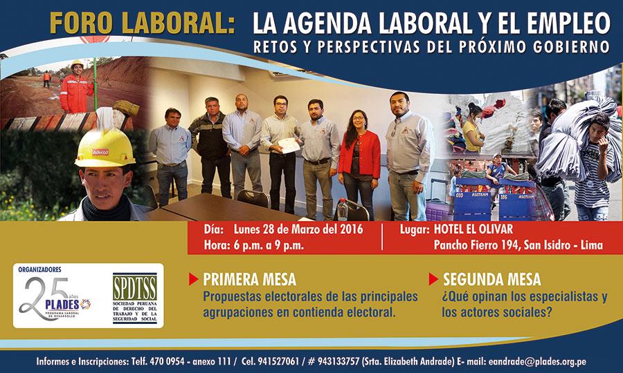 Foro Laboral «La Agenda Laboral y de Empleo del próximo gobierno: retos y perspectivas»