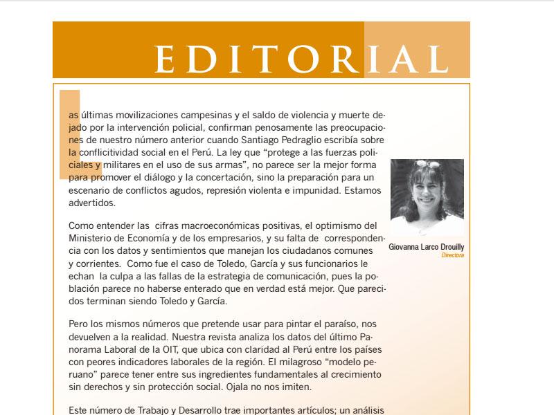 Revista Nº 3 Trabajo & Desarrollo