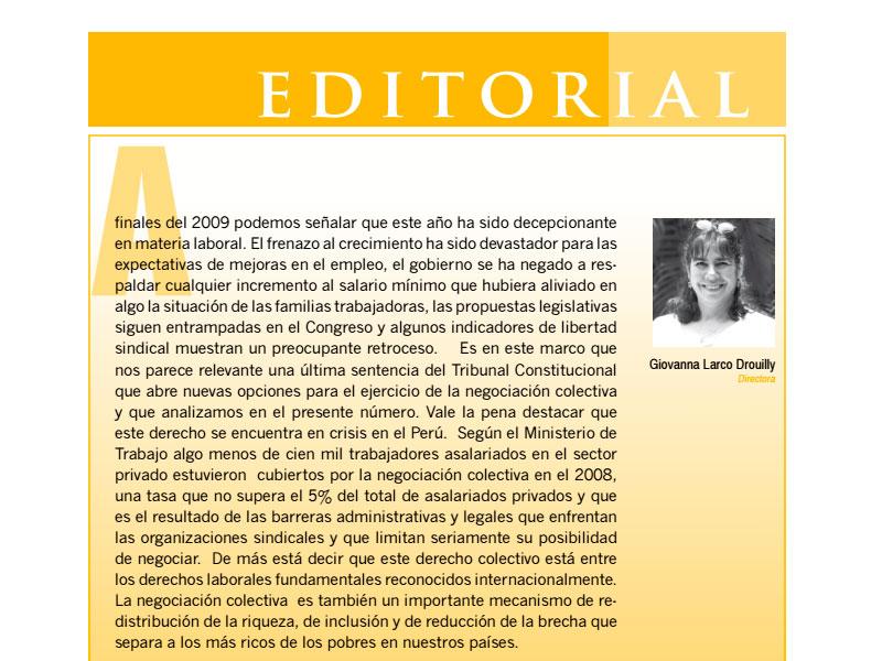 Revista Nº 6 Trabajo & Desarrollo.